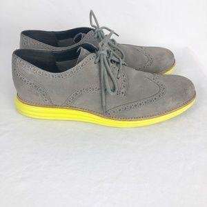 Cole Haan Lunargrand Neon Yellow Wingtip Size 10.5